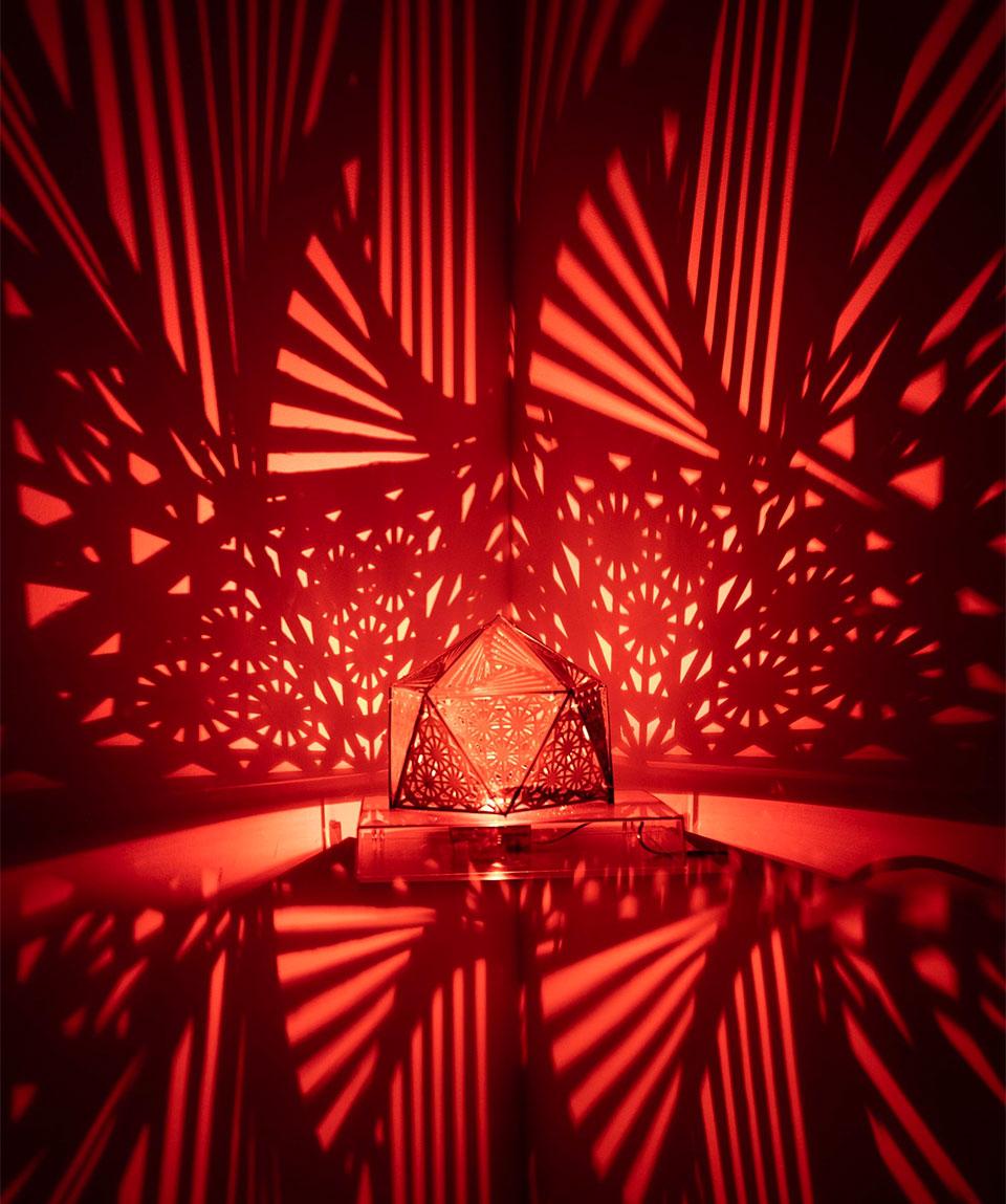 Geometric Shadowcaster Lamps