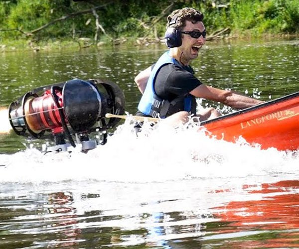Jet-powered Canoe