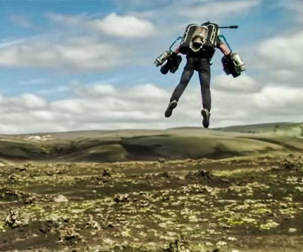 Jet Suit Over Iceland