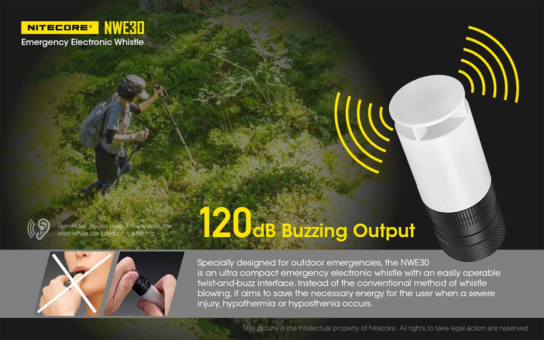 NWE30 Electronic Emergency Whistle