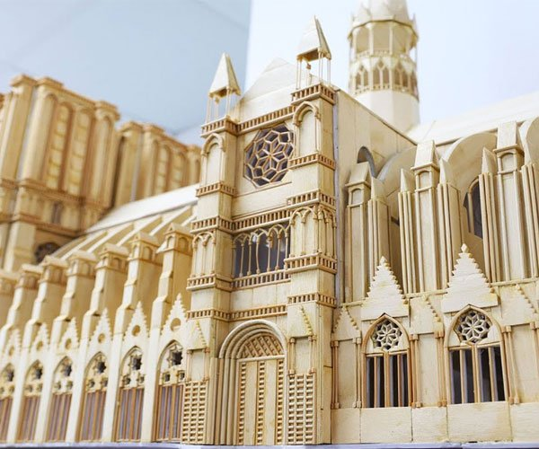 Popsicle Stick Notre Dame