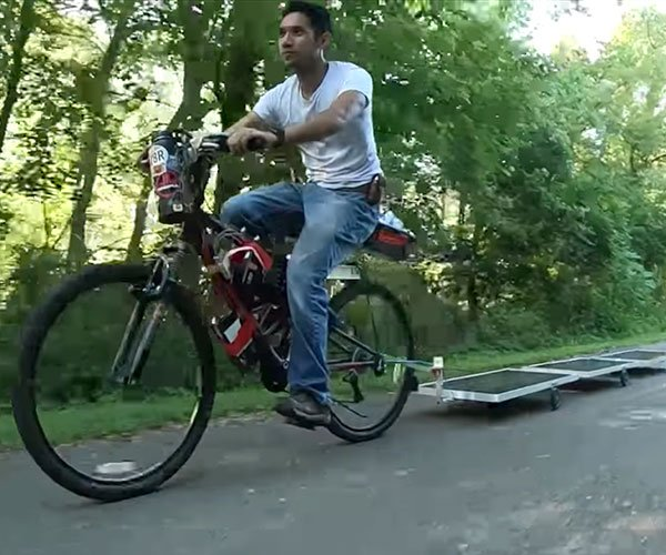 Solar-powered eBike