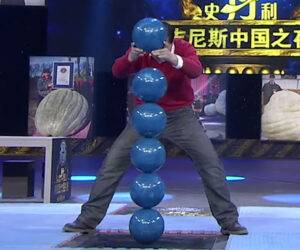 Tallest Bowling Ball Stack