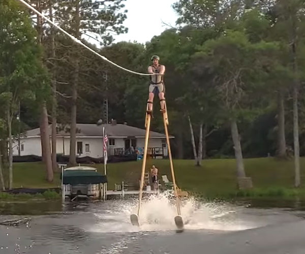 Water Skiing on Stilts