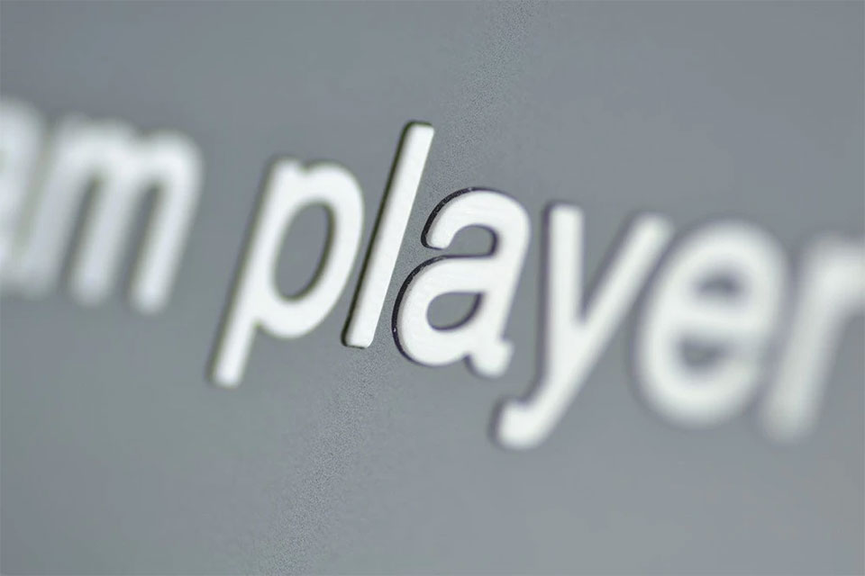 Team Player Name Plate