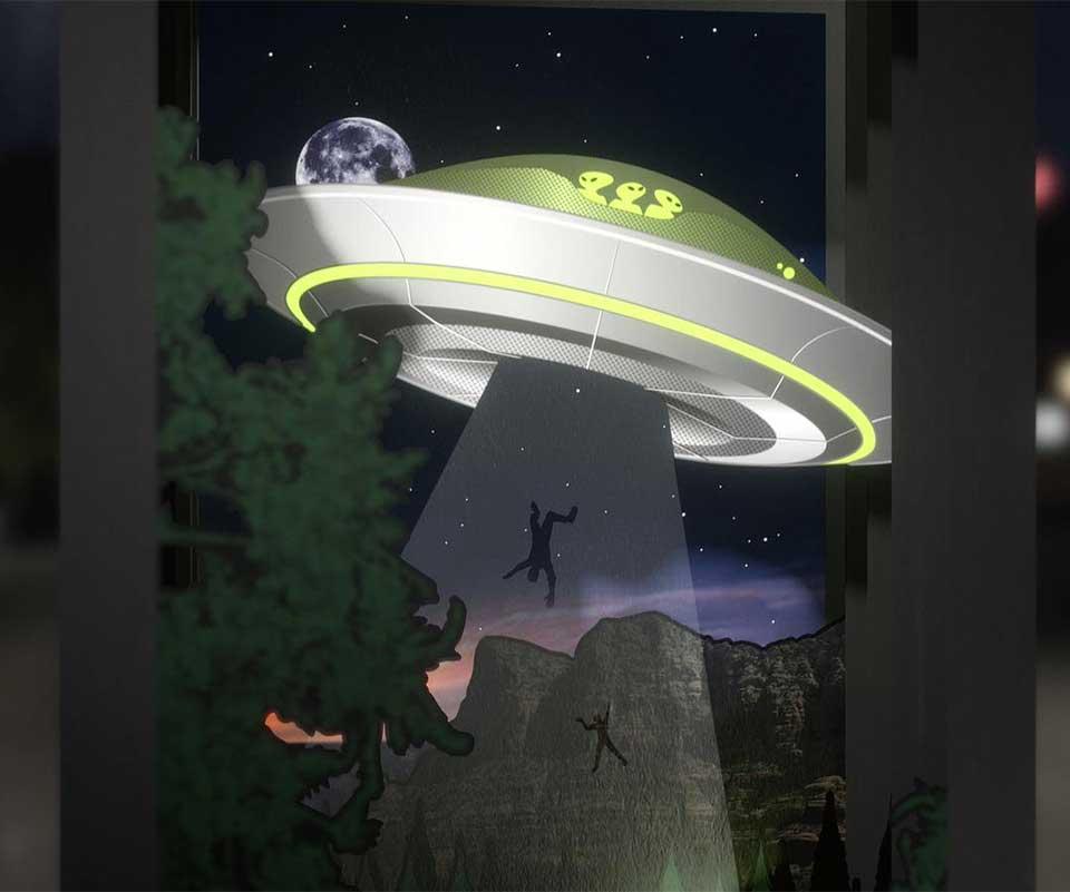 UFO Multiplane Diorama