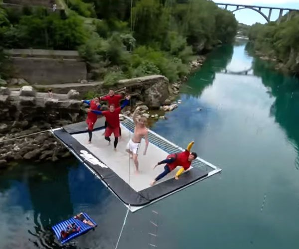 Under-bridge Trampoline