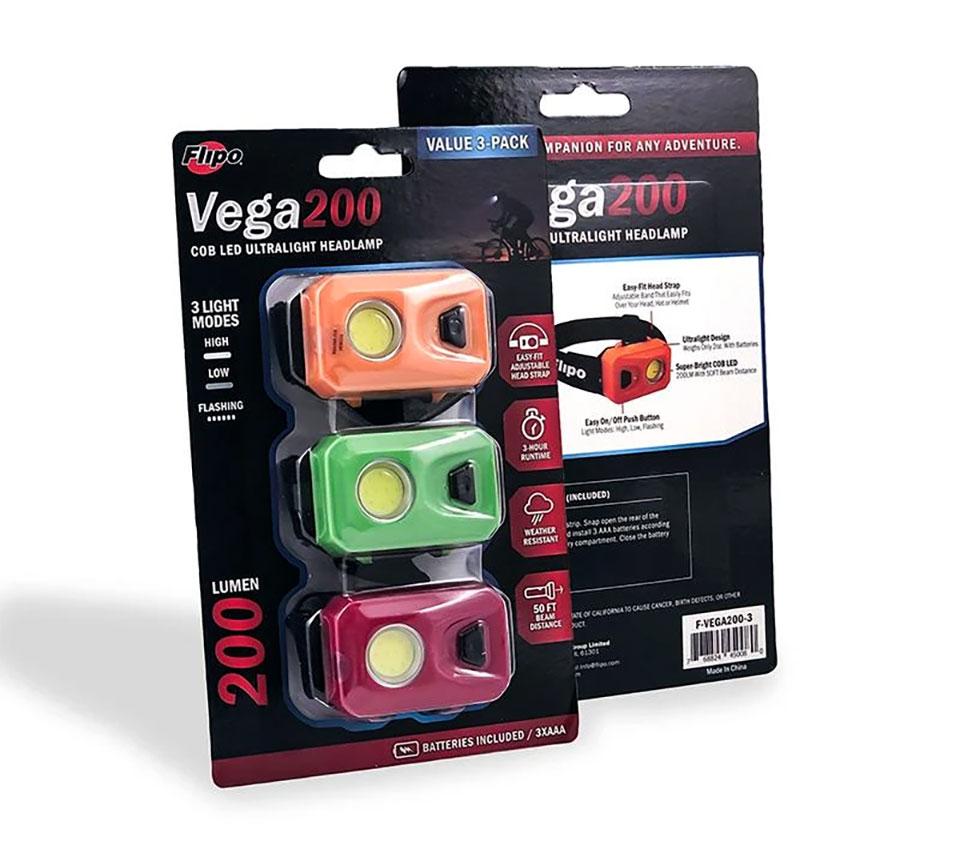 Vega 200 Headlamp 3-Pack