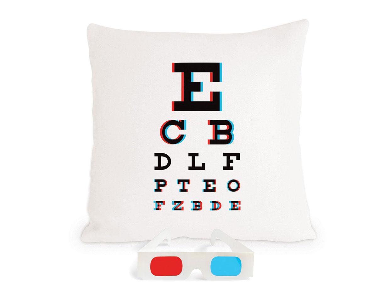 3D Eye Chart Pillow