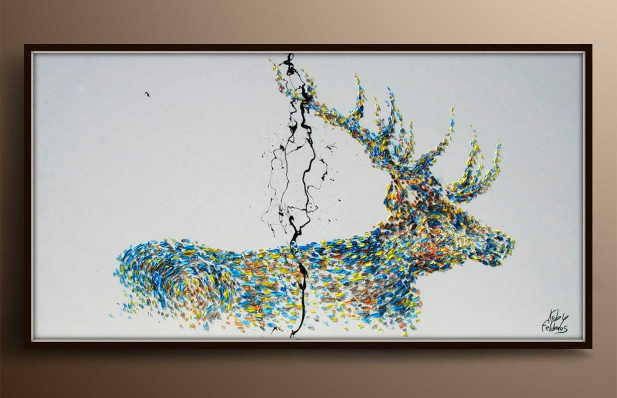 Abstract Stag Painting