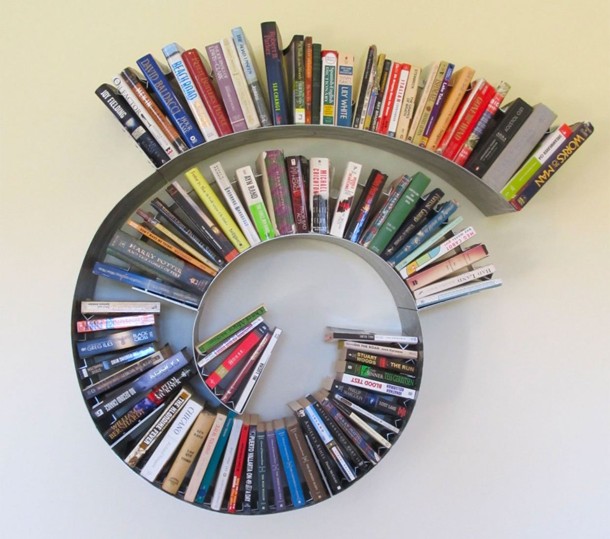 Arc, Spiral, and Curve Bookshelves