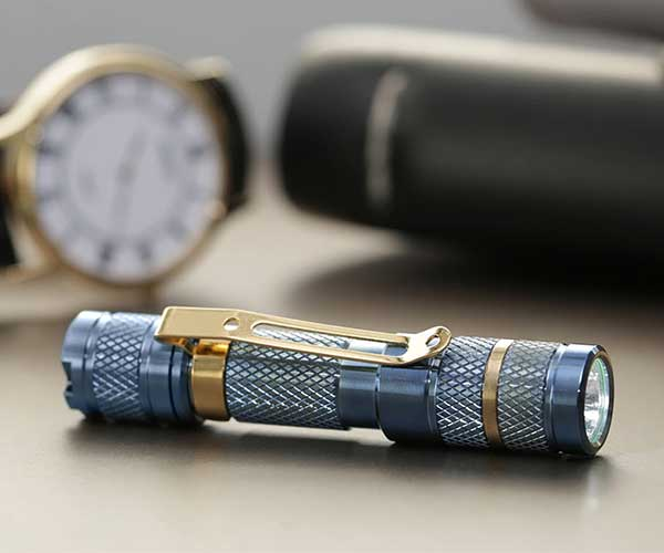 Drop Blue Titanium Flashlight