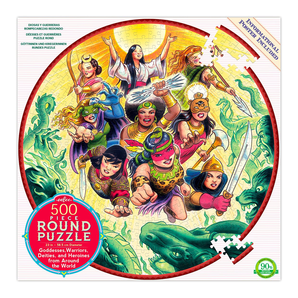 Goddess and Warriors Jigsaw Puzzle