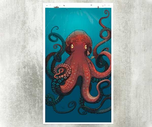 NYT Reef Octopus Print