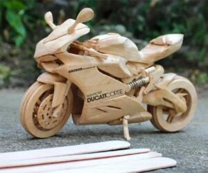Popsicle Stick Motorcycles