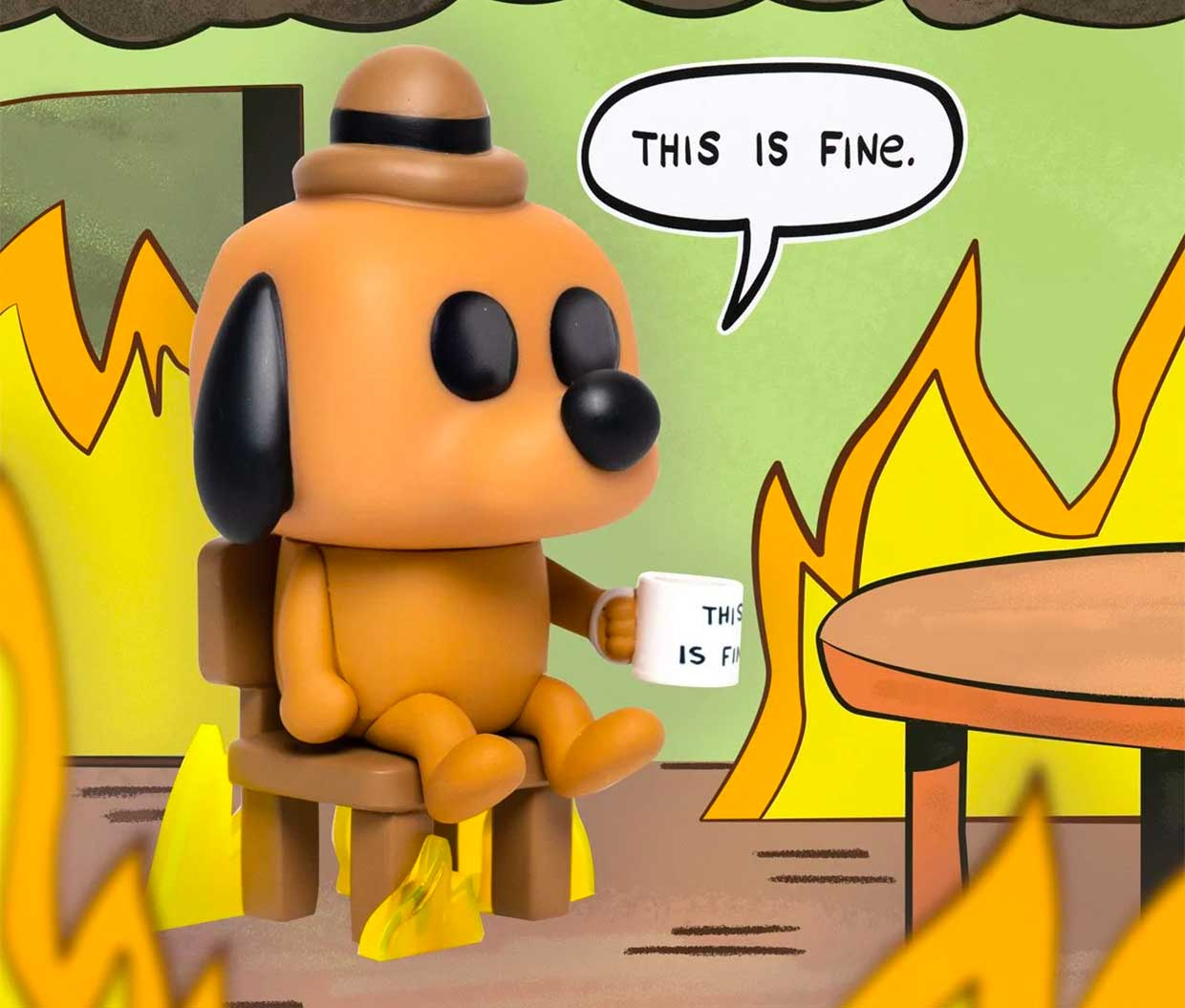 This Is Fine Dog POP!