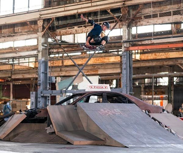 Tony Hawk Skates the Warehouse