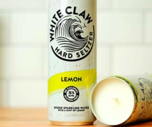 White Claw Lemongrass Candle