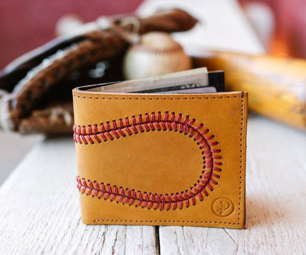 Baseball Glove Leather Wallet