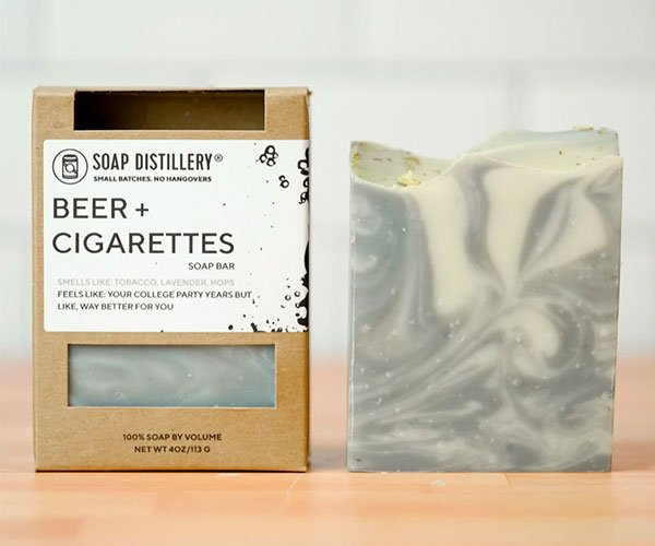 Beer + Cigarettes Soap
