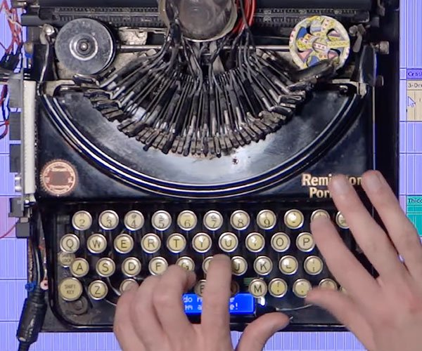 Blinding Lights on Typewriter