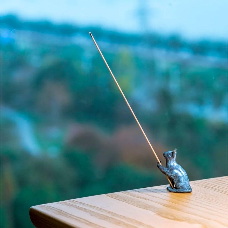 Brass Cat Incense Burner