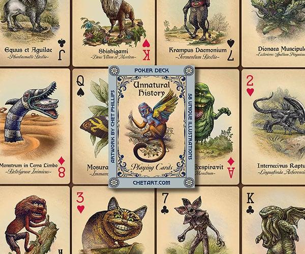 Unnatural History Playing Cards