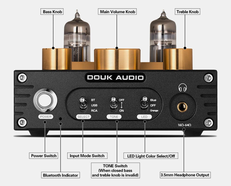 Douk Audio P1 Tube Headphone Amp + USB DAC