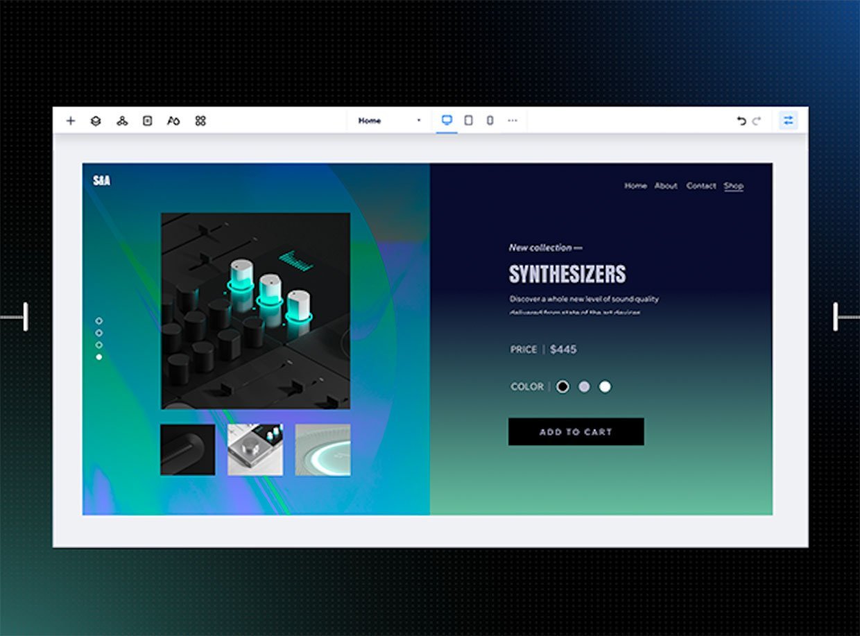 Editor X Responsive Website Builder