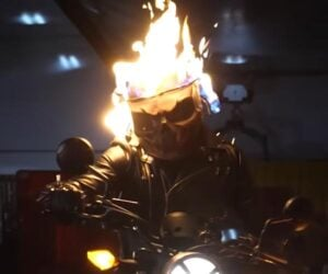 Flaming Ghost Rider Helmet