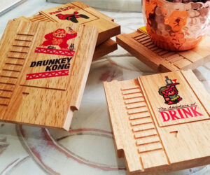 Game Cartridge Wood Coasters