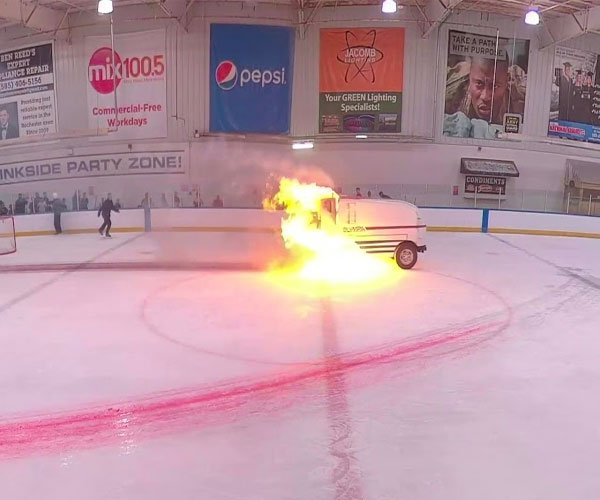 Ghost Rider on a Zamboni