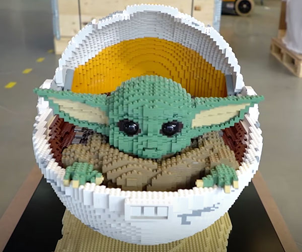 Life-size LEGO Baby Yoda