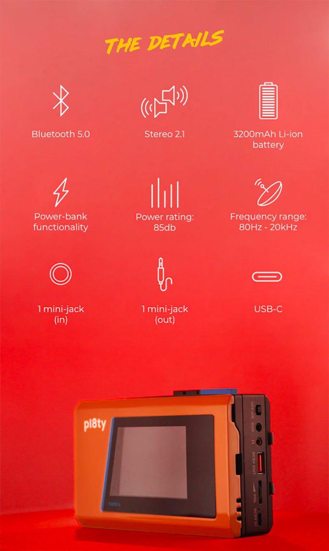 Pl8ty Retro Bluetooth Speaker