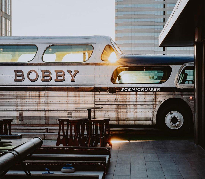 Rooftop Greyhound Bus