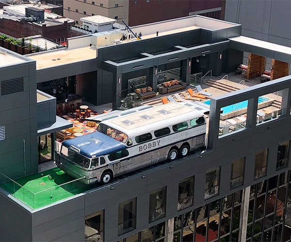 Rooftop Greyhound Bus
