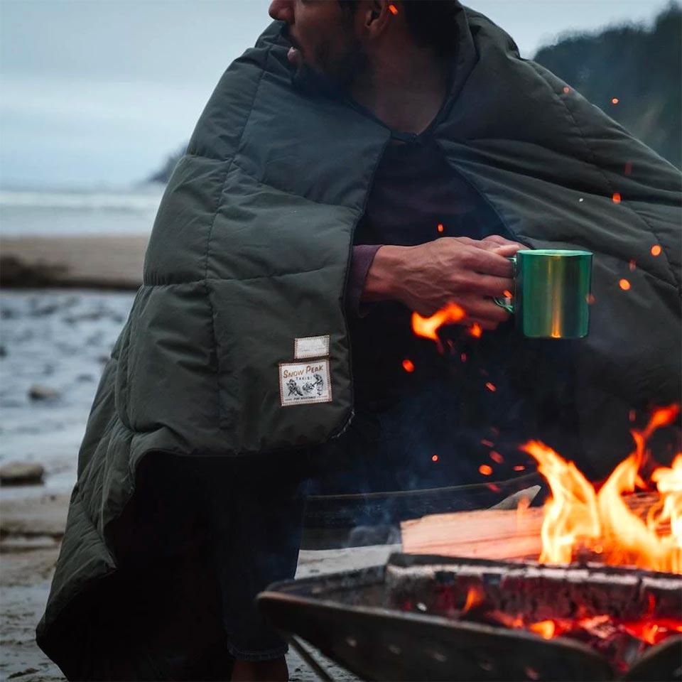 Rumpl x Snow Peak NanoLoft Takibi Fire-Resistant Blanket
