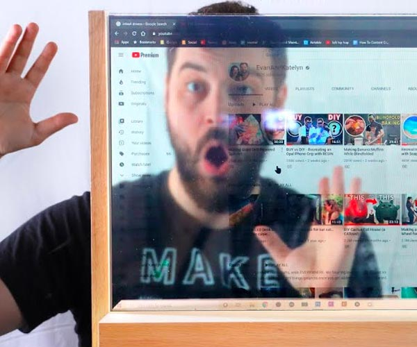 Making a See-through Computer Screen
