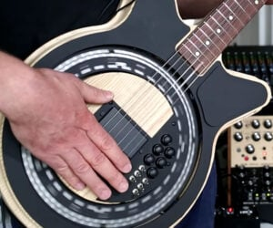 Self-Playing Circle Guitar