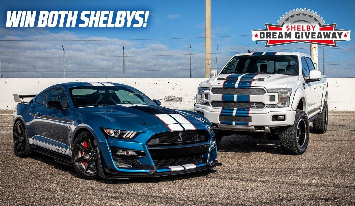 Win a 2020 Mustang Shelby GT500 and a Shelby F-150 Truck