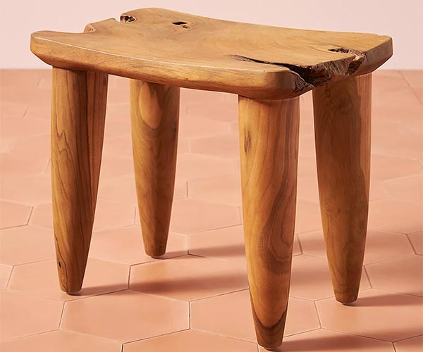 Zuri Outdoor Wood Stool