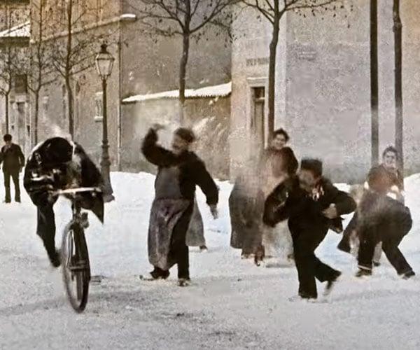 Victorian Snowball Fight