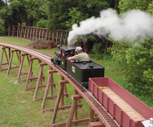 Backyard Trestle Railroad