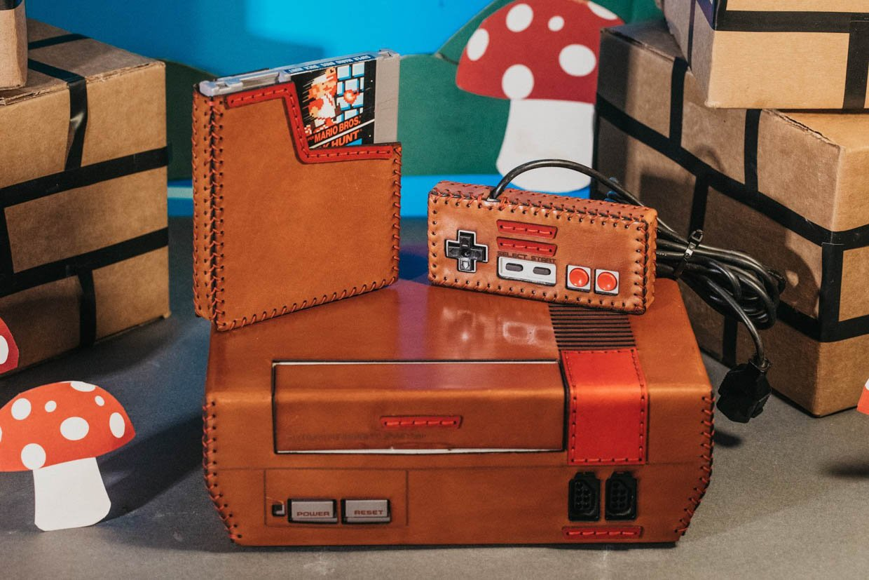 Bexar Goods Leather NES Console