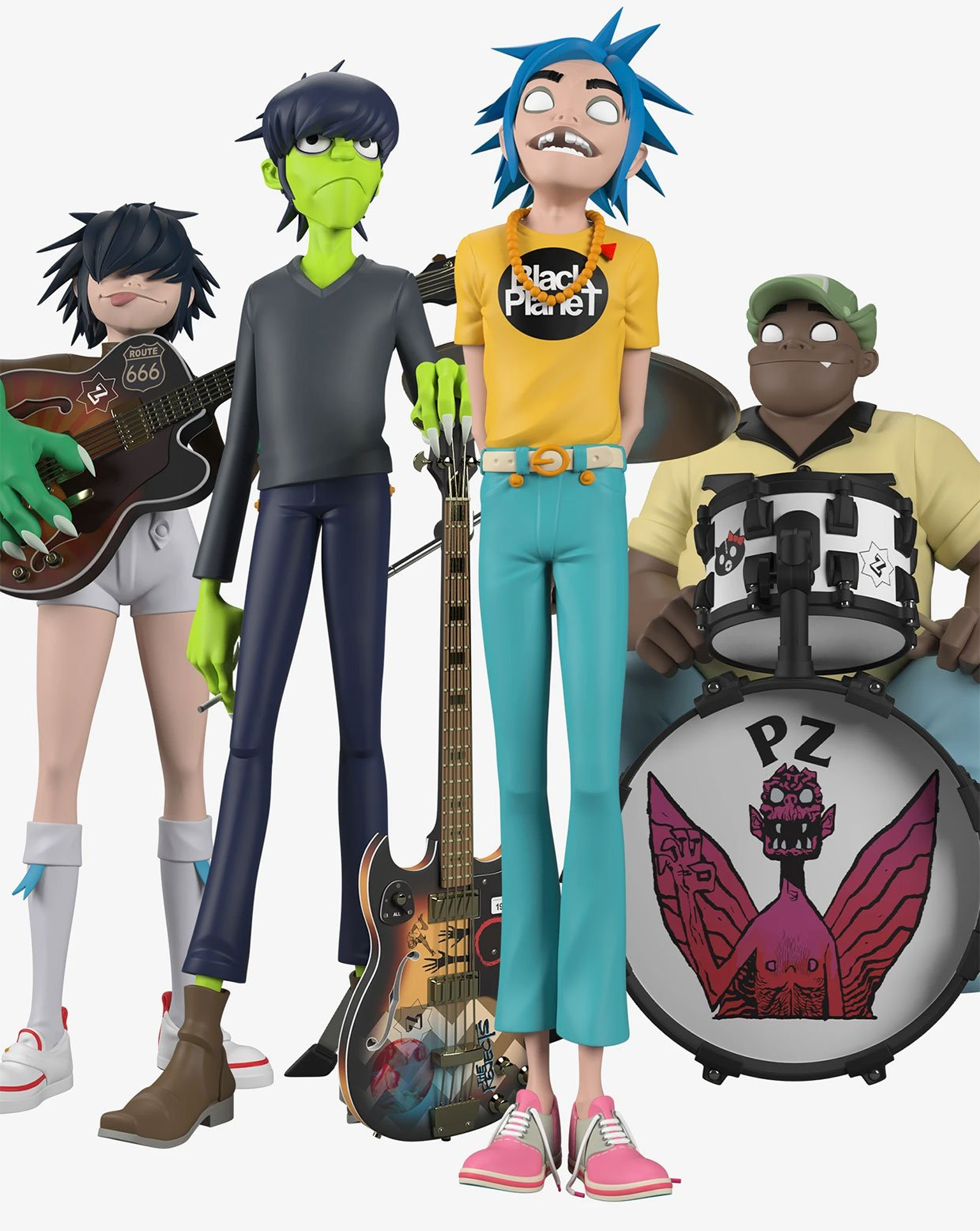 Superplastic x Gorillaz Song Machine Band Vinyl Figures