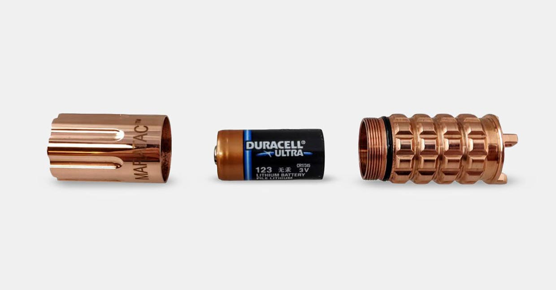 Maratac CR123 Rev 3 Copper Flashlight