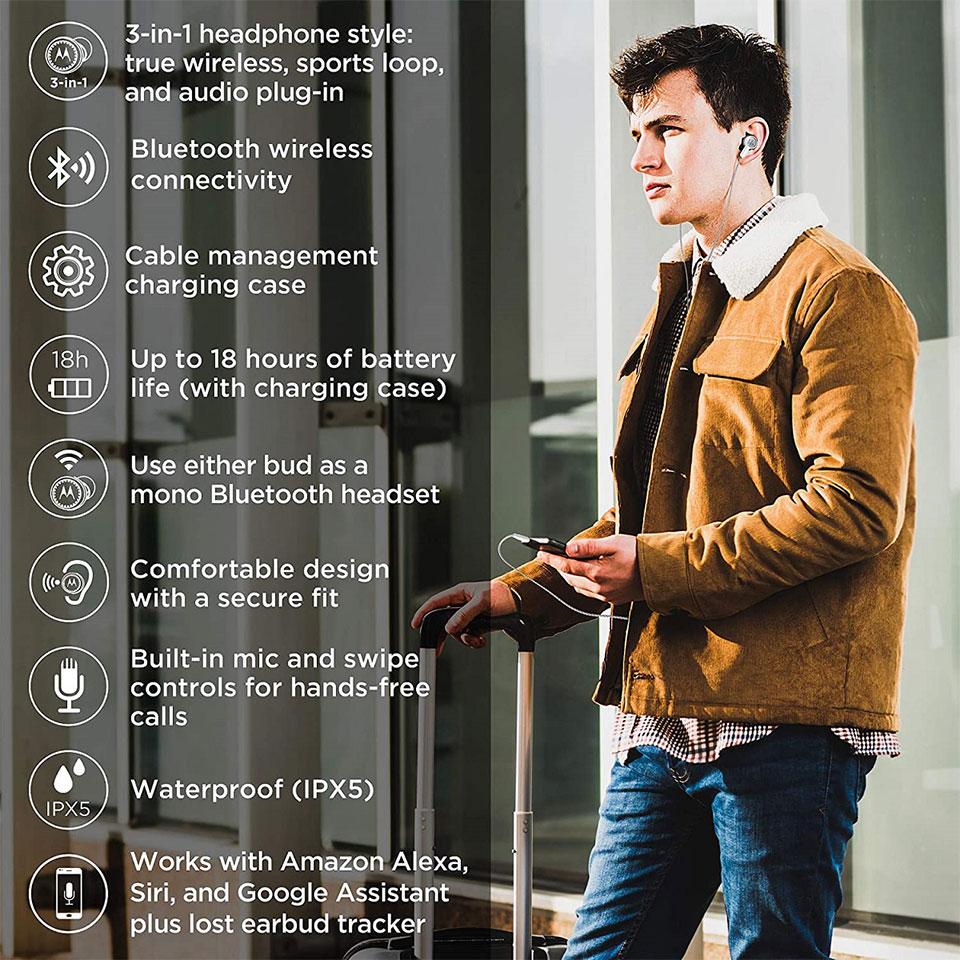 Motorola Tech3 Smart True Wireless Earbuds