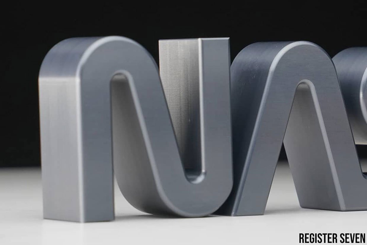 Machined NASA Worm Logo