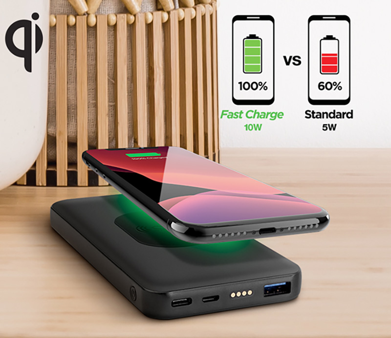 Naztech 2-in-1 Wireless Charging Dock