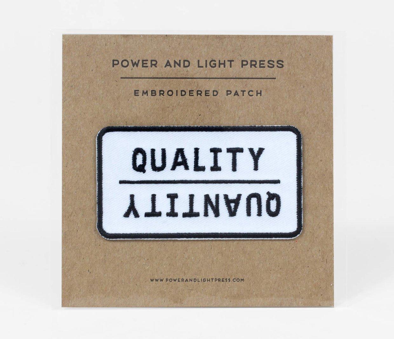 Quality/Quantity Patch